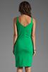 Image 4 of Amanda Uprichard Ponte Mini Tank Dress in Green