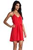 Image 2 of Amanda Uprichard Button Back Dress in Red