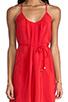 Image 5 of Amanda Uprichard Button Back Dress in Red