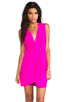 Image 1 of Amanda Uprichard Crystal Dress in Hot Pink
