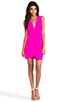 Image 2 of Amanda Uprichard Crystal Dress in Hot Pink