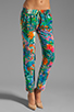 Image 1 of Amanda Uprichard Silk Tribeca Pants in Aqua Splash