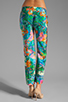 Image 3 of Amanda Uprichard Silk Tribeca Pants in Aqua Splash