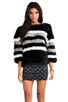 Image 1 of April, May Freeze Rabbit Pullover in Black