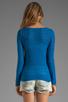 Image 2 of American Vintage Adams Pullover Sweater in Cobalt