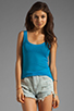 Image 1 of American Vintage Massachusetts Round Neck Tank in Azure