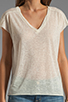 Image 3 of American Vintage Niles V Neck Sleeveless Top in Pearl