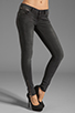 Image 1 of ANINE BING Skinny Double Zipper Skinny in Charcoal