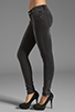 Image 2 of ANINE BING Skinny Double Zipper Skinny in Charcoal