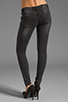 Image 3 of ANINE BING Skinny Double Zipper Skinny in Charcoal