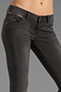 Image 4 of ANINE BING Skinny Double Zipper Skinny in Charcoal