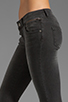 Image 5 of ANINE BING Skinny Double Zipper Skinny in Charcoal