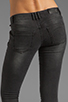 Image 6 of ANINE BING Skinny Double Zipper Skinny in Charcoal