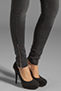 Image 7 of ANINE BING Skinny Double Zipper Skinny in Charcoal