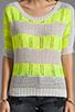 Image 4 of Ash-Rain-Oak Penny Knit Stripe Top in Oyster Stripe