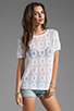 Image 1 of Ash-Rain-Oak Sunny T-Shirt with Back Detail in White
