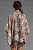 Image 3 of Anna Sui Tulip Bouquet Floral Jacquard Kimono in Antique Ivory Multi