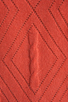 Image 4 of Autumn Cashmere Cable Diamond Pointelle Boatneck in Coral
