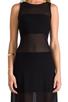 Image 4 of Alexis Mizuri Dress in Black & Mesh