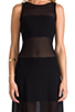 Image 5 of Alexis Mizuri Dress in Black & Mesh