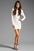 Image 2 of Backstage Long Sleeve Caroline Dress in Ivory