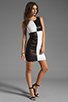 Image 2 of Bailey 44 Dig Out Dress in Black/White