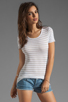 Image 1 of Bailey 44 Metallic Stripe Tee in White