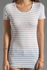 Image 3 of Bailey 44 Metallic Stripe Tee in White