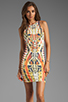Image 1 of Bardot Rider Print Dress in Multi