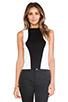 Image 1 of Bardot Sporty Ponti Crop Top in Black/White