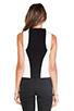 Image 3 of Bardot Sporty Ponti Crop Top in Black/White