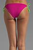 Image 3 of Basta Surf Raglan Reversible Bikini Bottom in Fuchsia/Peri