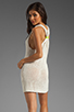 Image 1 of Basta Surf Percy T-Back Dress with Reflector Accents in White