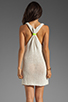 Image 3 of Basta Surf Percy T-Back Dress with Reflector Accents in White