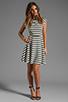 Image 2 of BB Dakota Zamora Stripe Rayon Dress in Black/Optic White