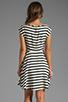 Image 4 of BB Dakota Zamora Stripe Rayon Dress in Black/Optic White