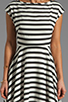 Image 5 of BB Dakota Zamora Stripe Rayon Dress in Black/Optic White