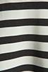 Image 6 of BB Dakota Zamora Stripe Rayon Dress in Black/Optic White