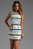 Image 1 of BB Dakota Delaine Stripe Dobby Dress in Multi Blue