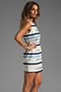 Image 3 of BB Dakota Delaine Stripe Dobby Dress in Multi Blue