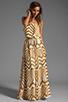 Image 2 of BB Dakota Imelda Golden Pyramid Printed Chiffon Maxi Dress in Gold