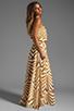 Image 3 of BB Dakota Imelda Golden Pyramid Printed Chiffon Maxi Dress in Gold