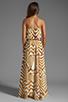 Image 4 of BB Dakota Imelda Golden Pyramid Printed Chiffon Maxi Dress in Gold