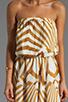 Image 5 of BB Dakota Imelda Golden Pyramid Printed Chiffon Maxi Dress in Gold