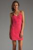 Image 1 of Jack by BB Dakota Maiden Crochet Lace Dress in Fiery Pink