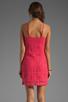 Image 4 of Jack by BB Dakota Maiden Crochet Lace Dress in Fiery Pink