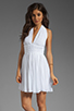 Image 1 of BB Dakota Graciela Pleated Chiffon Dress in Optic White