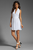 Image 2 of BB Dakota Graciela Pleated Chiffon Dress in Optic White
