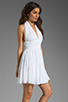 Image 3 of BB Dakota Graciela Pleated Chiffon Dress in Optic White