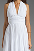 Image 5 of BB Dakota Graciela Pleated Chiffon Dress in Optic White